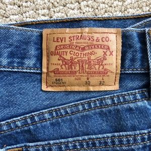 Vintage medium washed Levi 501 students 30W 32L